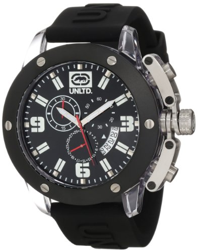 Marc Ecko - E14509G4 - The Tran - Montre Homme - Quartz Analogique - Cadran Noir - Bracelet Silicone Noir