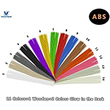 VICTORSTAR @ ABS 3D Penna Lineare Filamento Ricarica 14 Colori - 140 Metri (459.2ft) / (Metri Stick)