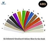 VICTORSTAR  ABS 3D-Druck Stift Filament 14 Farben - 140 Meter (459.2ft) / Stab Gerade Glühfaden / 12 Farben + 2 Farben Leuchtet im Dunkeln / Durchmesser 1,75 mm - 40 Stränge Jede Farbe