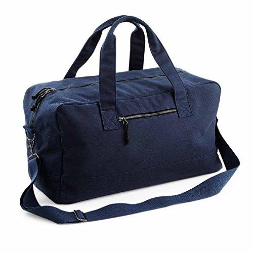 bag-base–Reisetasche Canvas–Baumwolle–Tasche Week End–bg640 Schwarz schwarz one size Marineblau