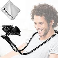 Handyhalter, First2savvv handy halterung Schwanenhals Halter Universal Ständer für iPhone iPad Smartphone Handy Tablet 360 Grad Drehen -ZJ-KJ-01G11