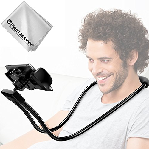 First2savvv Supporto per cellulari e tablet, Collo Oca Pigra Stand Holder Braccio Flessibile per IPad iPhone 7 7 plus / 6 , dispositivi GPS, Supporto Mobile Attacco per Letto, Scrivania, Camera da let cellulare Tablet supporto