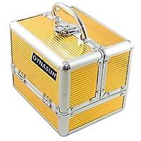 DynaSun Aluminium Beauty Case Vanity Case Jewellery Design, 22 cm, Gold (Gold) - SKU