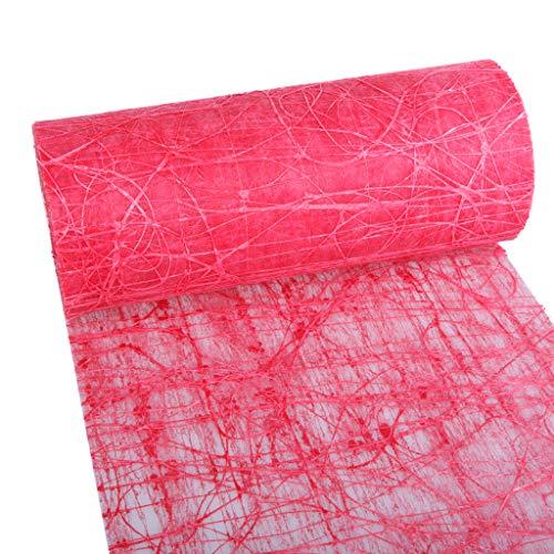 Dekoweb runner da tavola-nastro-rosso-30cm larghezza-15m lunghezza + 100gespiegelte decorazione cuori gratis-54-300-15-009