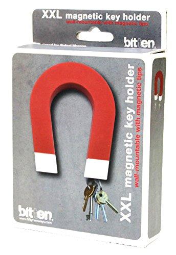 Bitten Magnet Key Gancio Portachiavi, Rosso, 13 x 10 x 3 cm