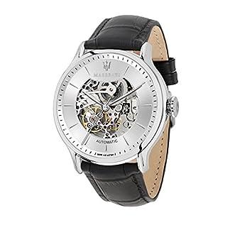 MASERATI Reloj Analógico para Hombre de Automático con Correa en Cuero R8821118003