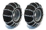 New pair 20x 10x 820x 10–820x 10x 10catene da neve fango Traction tire, 2-link spaziatura