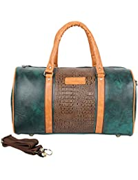 Willow & Smith Waterproof Leatherette 30 Litre Travel Duffle Sports Weekender Luggage Cabin Bag For Gym Men Women...