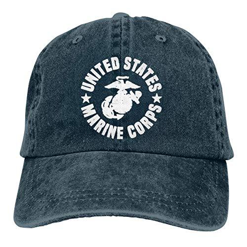 Hoswee Baseballmütze Hüte Kappe US Marine Corps Unisex Truck Baseball Cap Adjustable Hat Military Caps -
