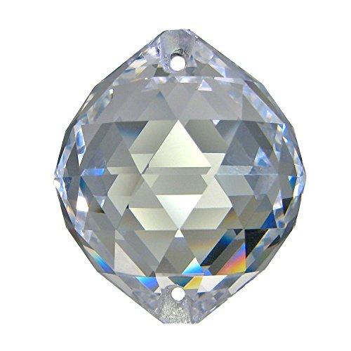 Boule de cristal haut de gamme (30% pbo) 2 trous, 30mm de diamètre