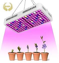 Roleadro 800W LED Pflanzenlampe, Led Grow Lampe Full Spectrum Pflanzenlicht Wachsen licht Wachstumslampe Pflanzenlicht für Zimmerpflanzen, Gemüse, Blumen
