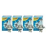 ECD Germany 4er Pack Halogen Lampe H4 55W 4000K 12V mit E4 Zulassung Glühbirne Birne Glühlampe Scheinwerferlampe Autolampe