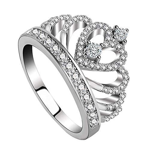Luxury Love Silberring Krone 925 Sterling Crown (55 (17.5)) (Ring Mit Krone)