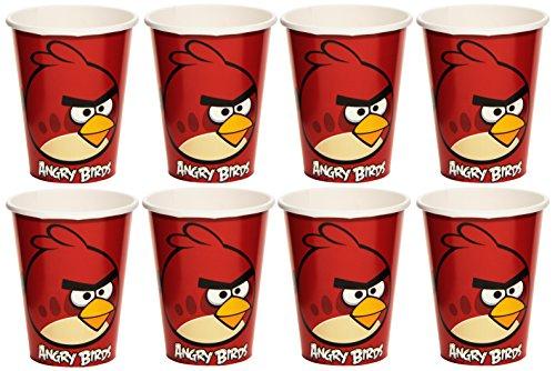 Amscan International Pappbecher 266ml Angry Birds Papier (rot) (Angry Kostüm Birds Halloween)