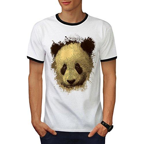 Panda Bär Niedlich Tier Bambus Bär Herren S Ringer T-shirt | Wellcoda (Hawaii-shirt Bambus)