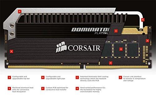 Best Corsair CMD32GX4M4B3333C16 Dominator Platinum DDR4 32 GB (4 x 8 GB ) 3333 MHz C16 XMP 2.0 Enthusiast Desktop Memory Kit with Dominator Airflow LED Fan Kit on Line