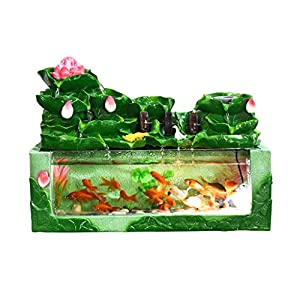 Aquarium Fish Tank Decoration Vase Child Fun Gift Goldfish Tank Study Desk Coffee Table Animal Creative Decoration