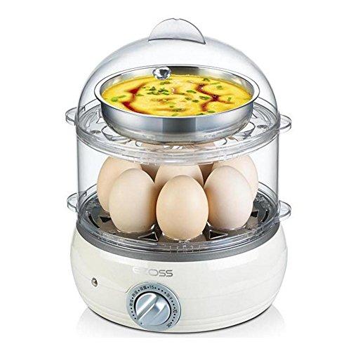 sbfwh Eierkocher für 8 Eier, elektronische Regelung, Edelstahldesign, 350 W , B