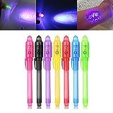 iZoeL Lot de 7 stylos Secrets avec lumière UV Invisible pour Anniversaires de fête et fête d'invité