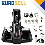Eurosell Premium HT-20B Akku Haarschneider Haarschneidemaschine Set + Aufsätze + Rasierer + Nasenhaar Trimmer Haar Schneide Maschine Cutter