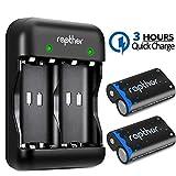 Rapthor Paquete de baterías Xbox One 2x2500mAh Batería recargable y cargador, 3H Carga rápida...