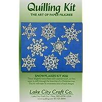 Lake City Craft - Kit per realizzare decorazioni a forma di fiocchi di neve con la tecnica del quilling