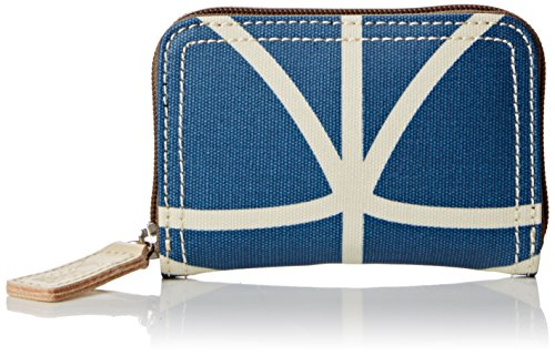 Orla Kiely Damen Giant Linear Stem Medium Zip Wallet Geldbörsen, Blau (Marineblau) (Medium Wallet Zip)