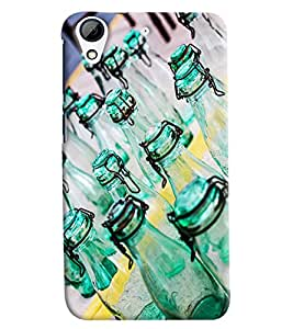 Blue Throat Bottle Pattern Printed Designer Back Cover/ Case For HTC Desire 728