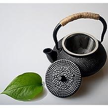 Hwagui-olla de té de hierro fundido con tetera japonesa infusor de acero inoxidable para té verde orgánico 300ml/10oz