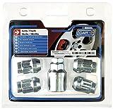 Butzi 12/x 1,25/cromado anti robo rueda de bloqueo tuercas tornillos y 2/llaves para Nissan Navara