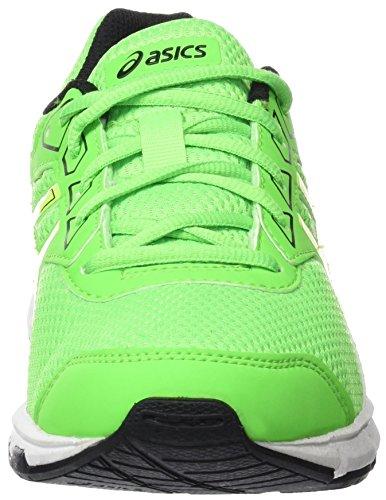 Asics Gel-Galaxy 9 Gs, Scarpe da Ginnastica Unisex – Bambini Verde (Green Gecko/Safety Yellow/Black)