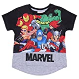 MARVEL -:- Marvel Camiseta Negra Superhéroes Marvel - 5-6 Años 116 cm