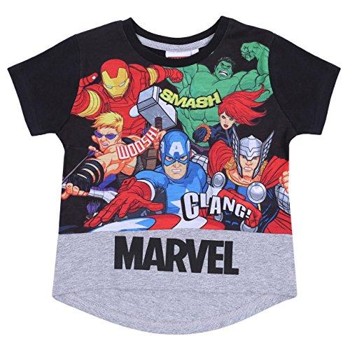 MARVEL -:- Marvel Camiseta Negra Superhéroes Marvel -...