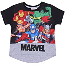 Camiseta Negra Superhéroes Marvel