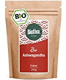 Polvere BIO Ashwagandha (250g) - Ashwaganda radice - Ayurveda - ginseng indiano - in uno Zippbeutel richiudibile - confezionati e controllati in Germania (DE-ÖKO-005)