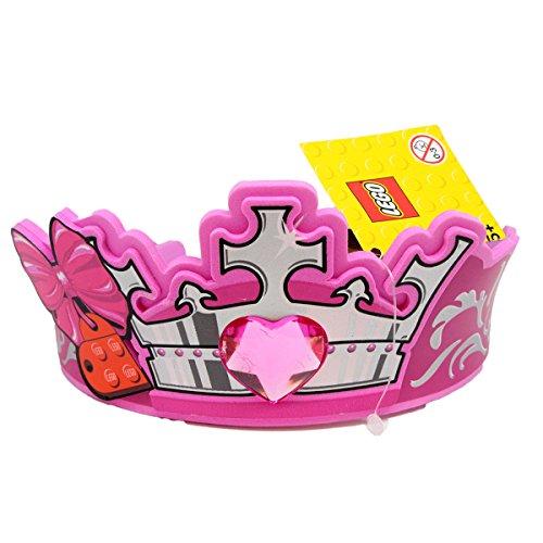 Lego Princess - 851328 rosa Krone mit Herzdiamant, Schleife und Löwentribal (Rosa Lego Kostüm)