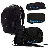 satch Pack Black Bounce 4-teiliges Set Rucksack, Penbox, Schlamperbox & Sporttasche