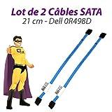 2 Stück Kabel sata Dell 0R498D optiplex 380 580 780 960 980 XE 21cm blau