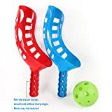 Risingmed Fangballspiel Kinder Scoop Ball Fangspiel Geschicklichkeitsspiel mit 2 Scoopball-Schläger
