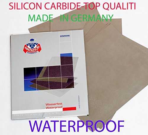 Starcke Matador Wet and dry sandpaper. A Weight 1 pack of 10 sheets 3000 Grit