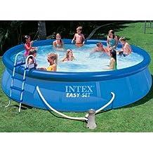 Intex piscina Easy set con depuradora,escalera,tapiz de suelo y cobertor 457 x