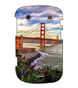 Fuson Designer Back Case Cover for BlackBerry Bold Touch 9900 :: BlackBerry Dakota :: BlackBerry Magnum (Bridge on the sea)
