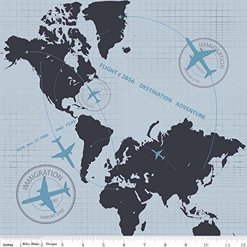 fat-quarter-detour-plane-flight-path-grigio-cotone-quilting-tessuto-world-atlas