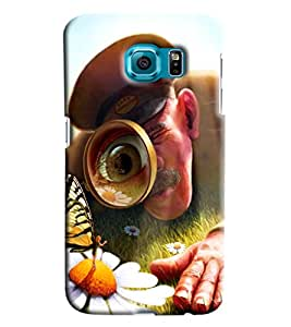 Blue Throat Police Men Identifying Printed Designer Back Cover/ Case For Samsung Galaxy S6 Edge Plus