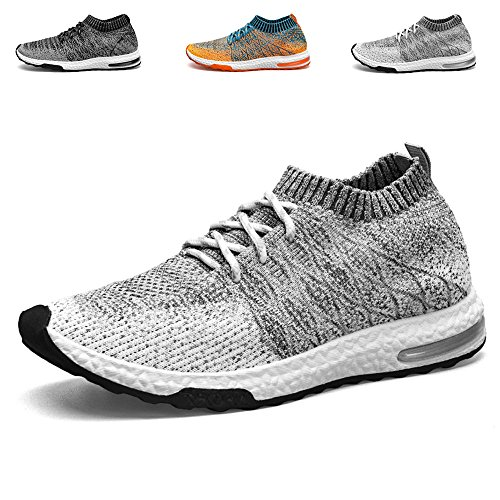 TUCSSON Mens Trainers Flyknit Air Sneakers Fitness Mesh Lightweight Sports Running Shoes...