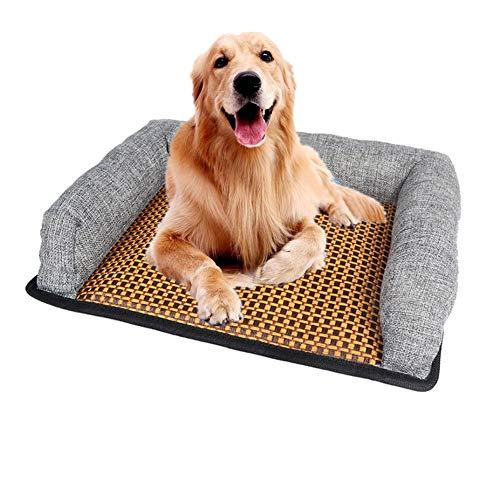 Alaof Hundebetten Klein Mittel Groß Hunde Schlafen Betten KüHlung Zum Sommer Rutschfest,Gray,L (Mädchen Kleine Hund Bett)