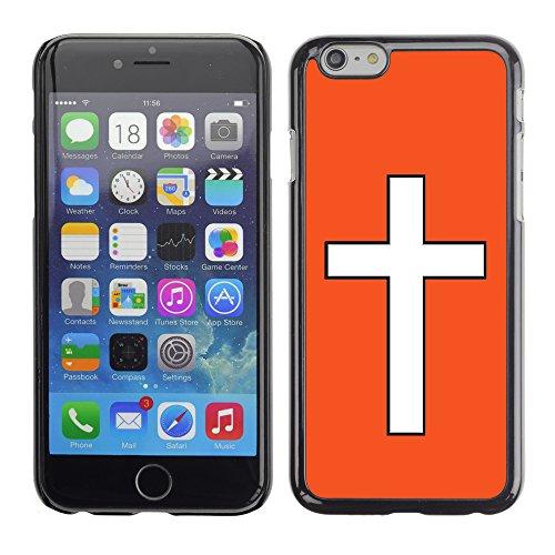 Graphic4You Kreuzr Design Harte Hülle Case Tasche Schutzhülle für Apple iPhone 6 / 6S (Gelb) Orange