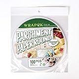 Papel de pergamino para hornear, redondo, a prueba de grasa, antiadherente, para sartenes, cocinas, pasteles, círculos 8 Inch