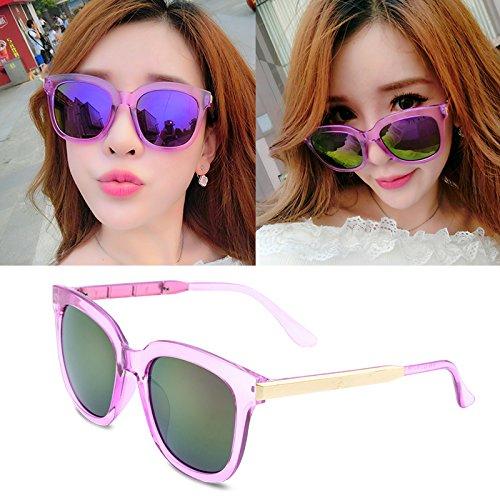 sonnenbrille, meine damen, popstars, brille, neue runde, personalisierte sonnenbrille, frauen - runde gesicht, die koreanischen männer augen,transparente lila (stoff)
