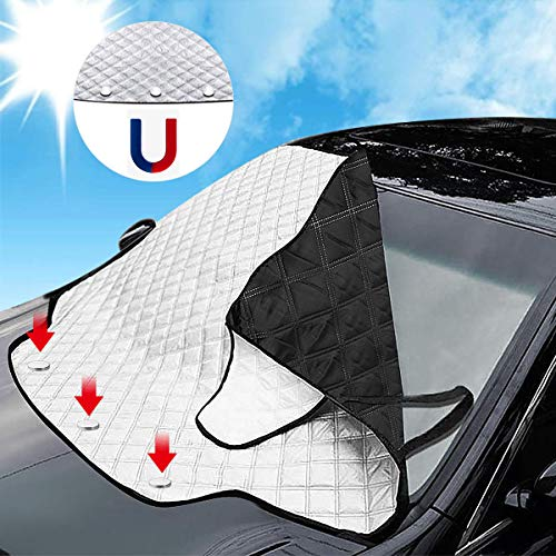 Matcc protezione parabrezza antighiaccio copertura parabrezza auto magnetico impermeabile telo parasole auto parabrezza per la maggior parte dei veicoli